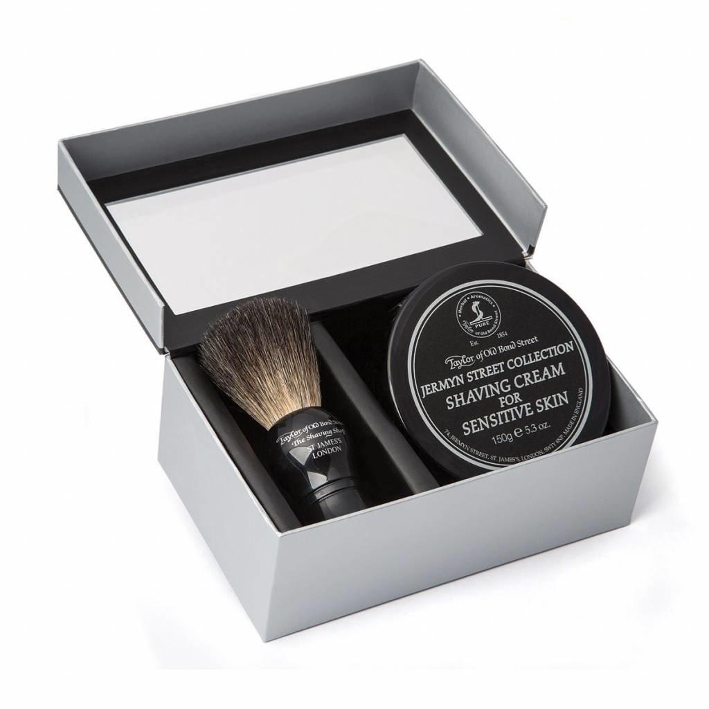 Giftbox Shaving Brush en shaving cream Jermyn Street