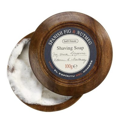 M8 - Shaving Soap in Wooden Bowl 100g Spanish Fig & Nutmeg
