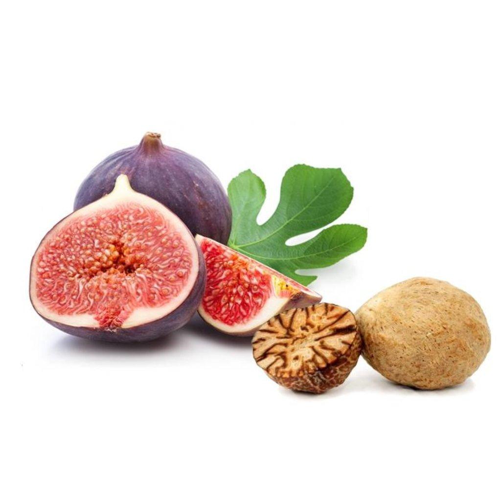 Scheerzeep in Wooden Bowl 100g Spanish Fig & Nutmeg