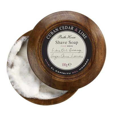 MH15 - Shaving Soap in Wooden Bowl 100g Cuban Cedar & Lime