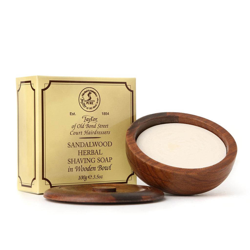 Wooden Bowl incl. Sandalwood 100g Soap