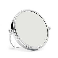 Shaving mirror with stand