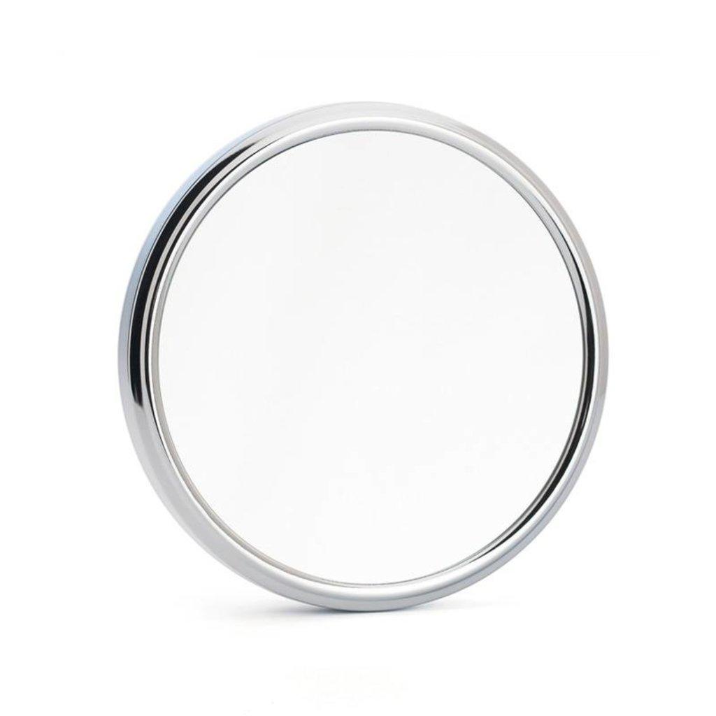 Shaving mirror with holder