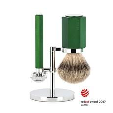 Shaving Set Hexagon - Forest - Saf.Razor - Badger