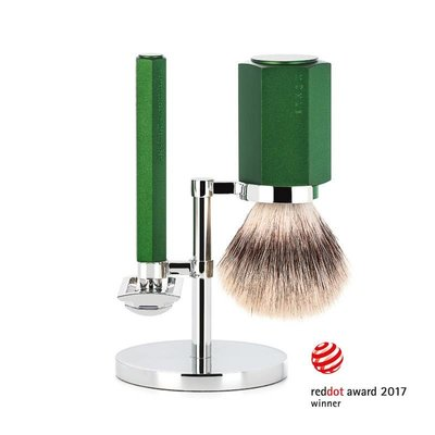 Shaving Set Hexagon - Forest - Saf.Razor - Silvertip Fibre®