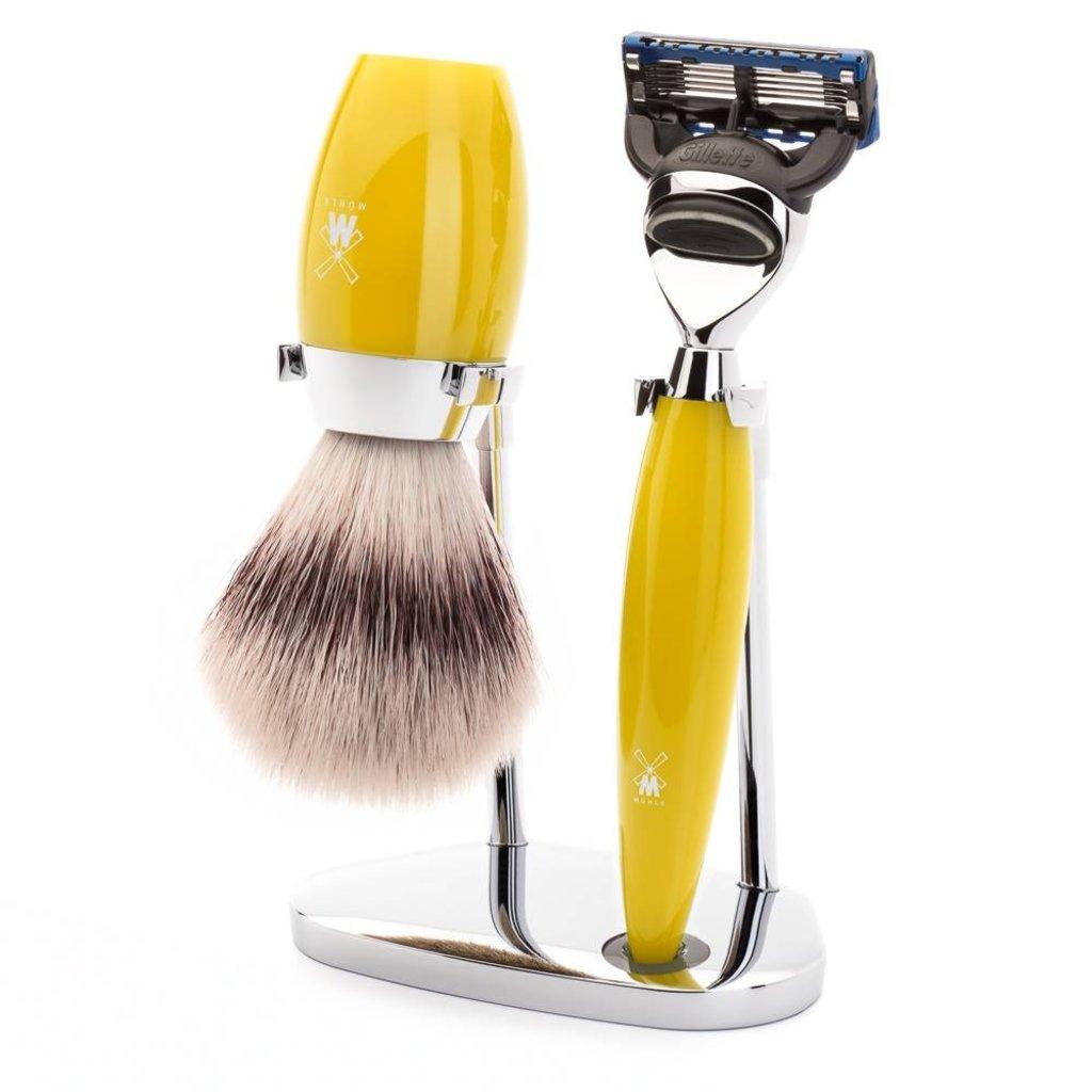 Shaving Set Kosmo 3-part - Yellow - Fusion®