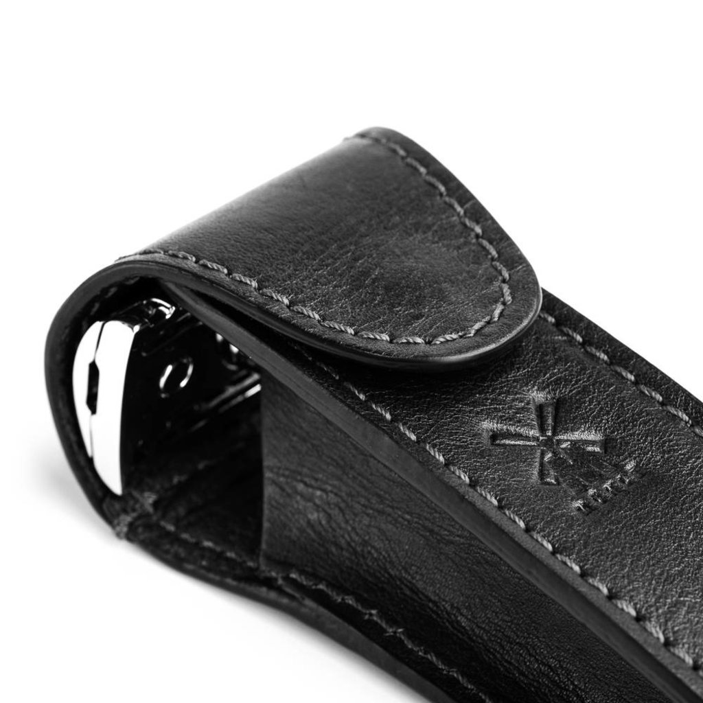 Leather pouch voor safety razor - Black