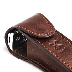 Lederen etui voor safety razor - Bruin