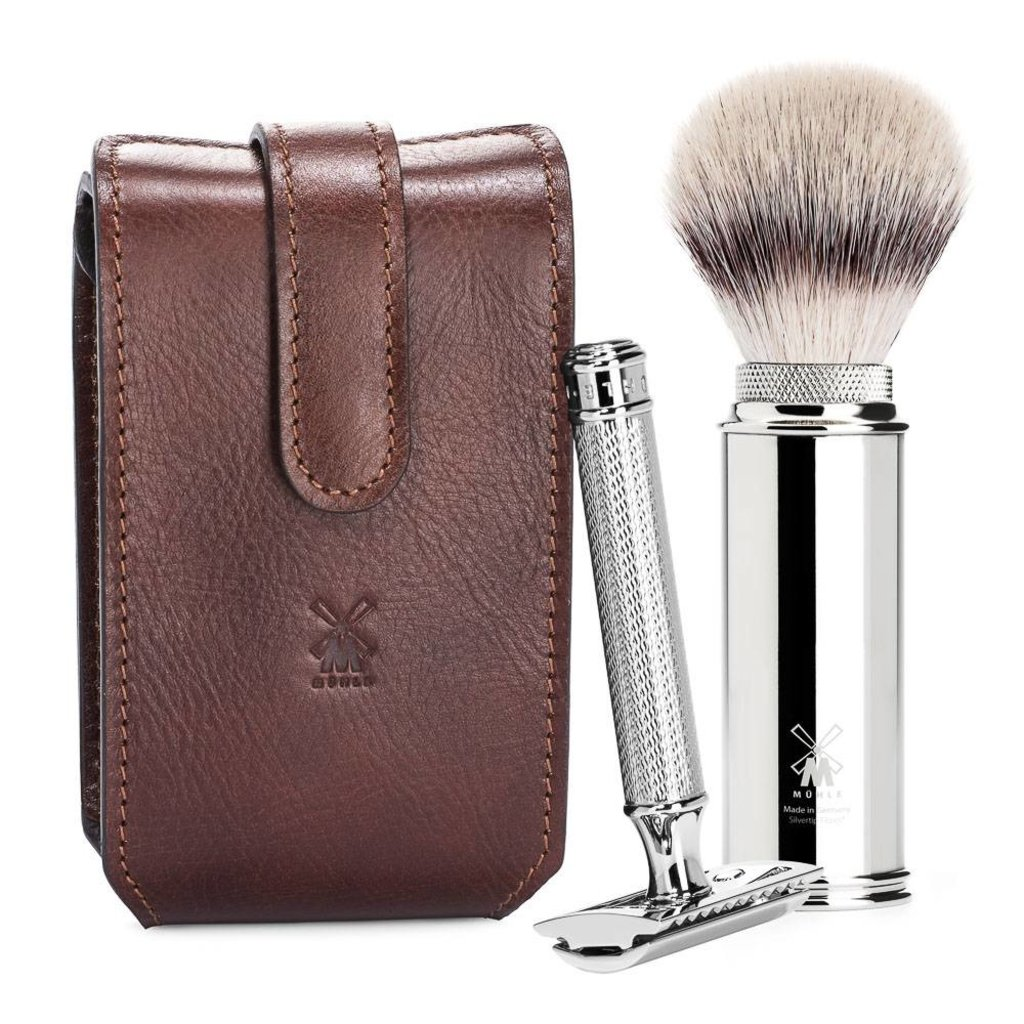 Shaving Set Safety Razor Brown
