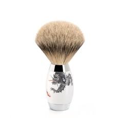 Shaving Brush Silvertip Badger - Meissen Porcelain