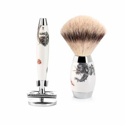 S433ED-MEISSEN-SR - Shaving Set Meissen Porcelain - Saf.Razor - Fibre®