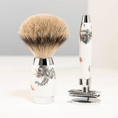 S493ED-MEISSEN-SR - Shaving Set Meissen Porcelain - Saf.Razor & Badger