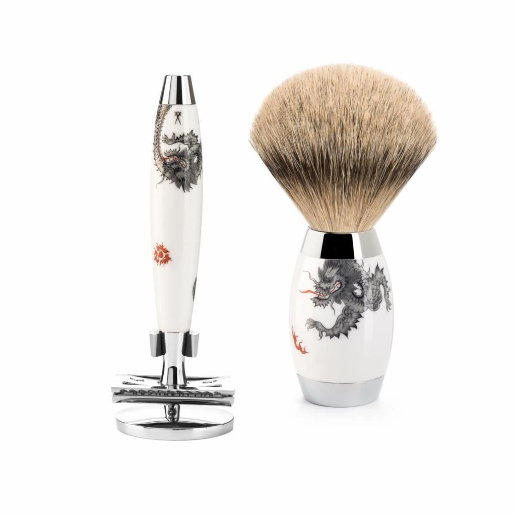 Shaving Set Meissen Porcelain - Saf.Razor & Badger