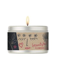 Scented Candle 40hr Wild Flower