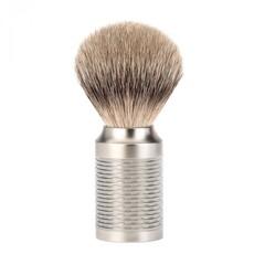 Scheerkwast Silvertip Dassenhaar - Zwart / RVS - Copy