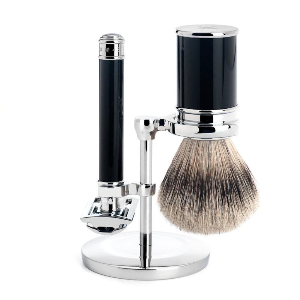 Shaving Set Traditional - Safety razor - Silvertip - Black