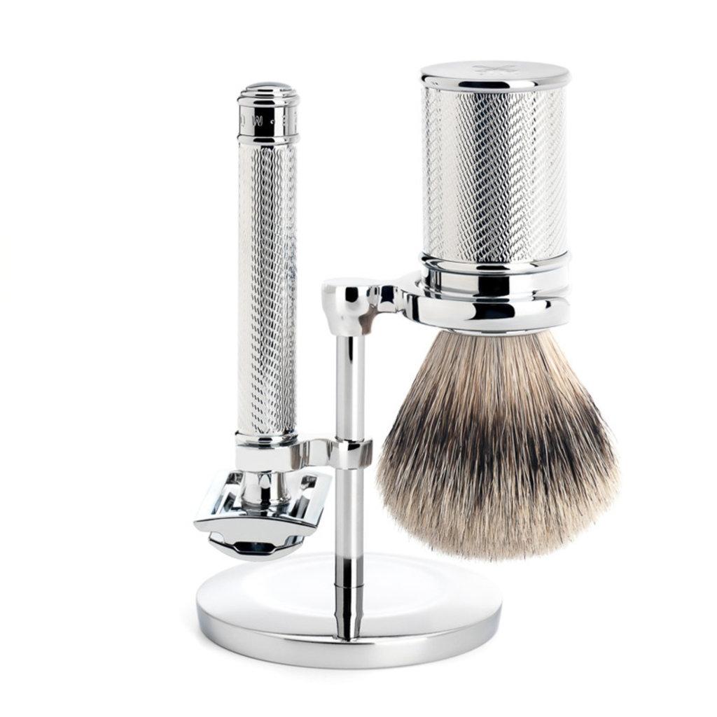Scheerset Traditional - Safety razor - Silvertip - Chroom