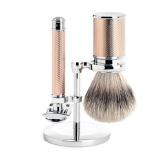 Shaving Set Traditional - Safety razor - Silvertip - Rosegold