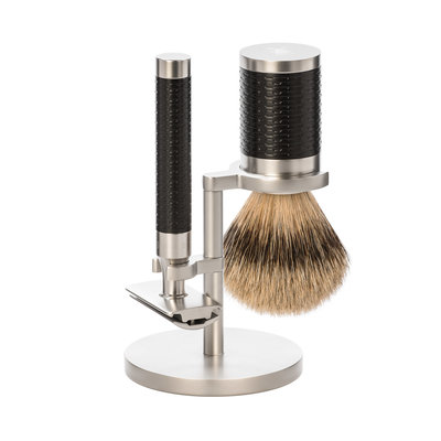 S91M96SR - Shaving Set Stainless Steel Silvertip