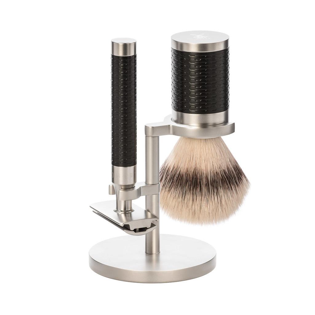 Shaving Set Stainless Steel Silvertip Fibre® - Rocca