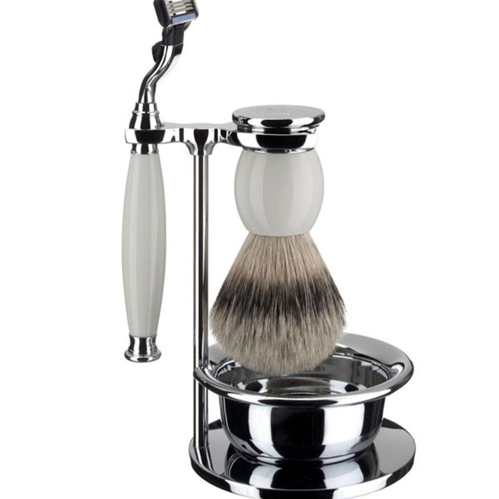 Shaving Set 4-part Sophist - Porcelain Mach3®