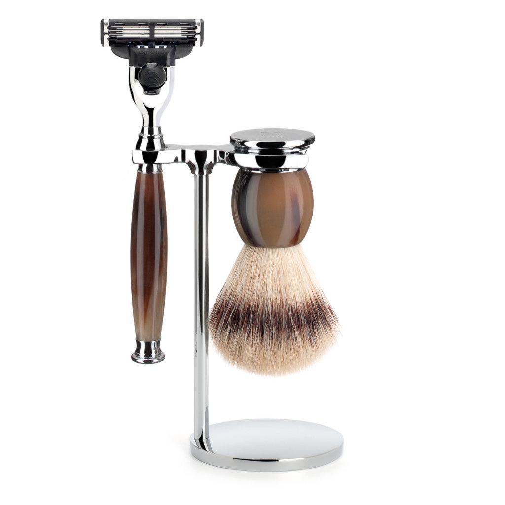 Shaving Set 3-part Sophist - Genuine horn Mach3®