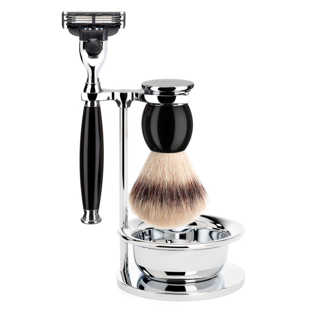 Shaving Set 4-part Sophist - Black Mach3®