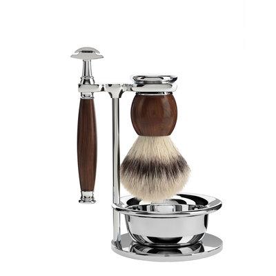 S33H47SSR - Shaving Set Sophist - Ironwood - Fibre® - Saf.Razor