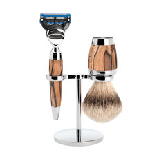 Shaving Set 3-part Stylo - Spalted beech Fusion®