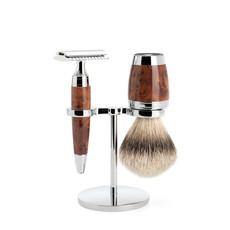 Shaving Set 3-part Stylo - Thuja wood Saf.Razor