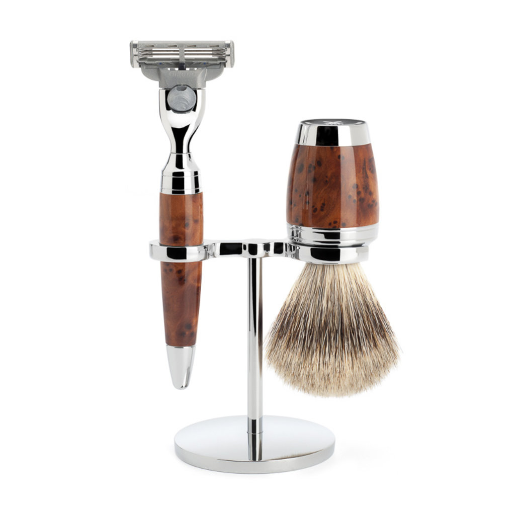 Shaving Set 3-part  Stylo - Thuja wood Mach3®