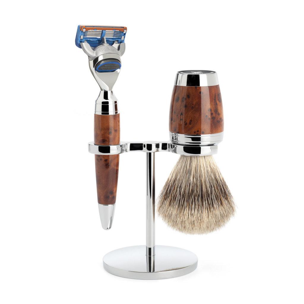 Shaving Set 3-part Stylo - Thuja wood Fusion®