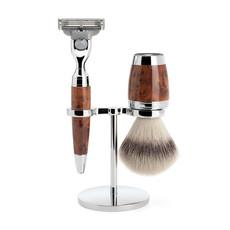 Shaving Set 3-part Stylo - Thuja wood Mach3®
