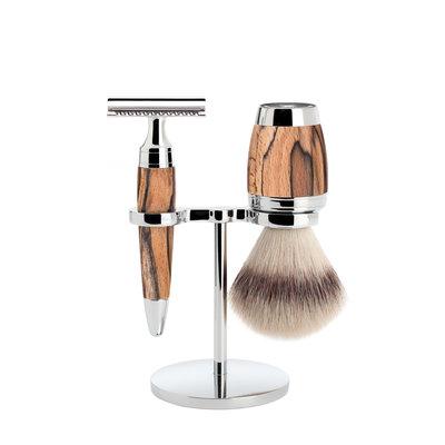 S31H72SR - Shaving Set Stylo - Spalted beech - Fibre® - Saf.Razor