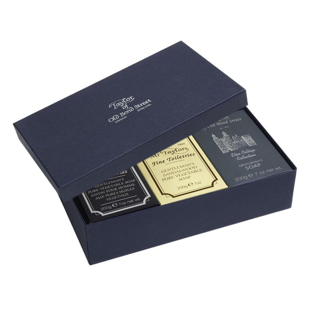 3x Bath soap 200g Eton College - Sandalwood - Mr. Taylor's