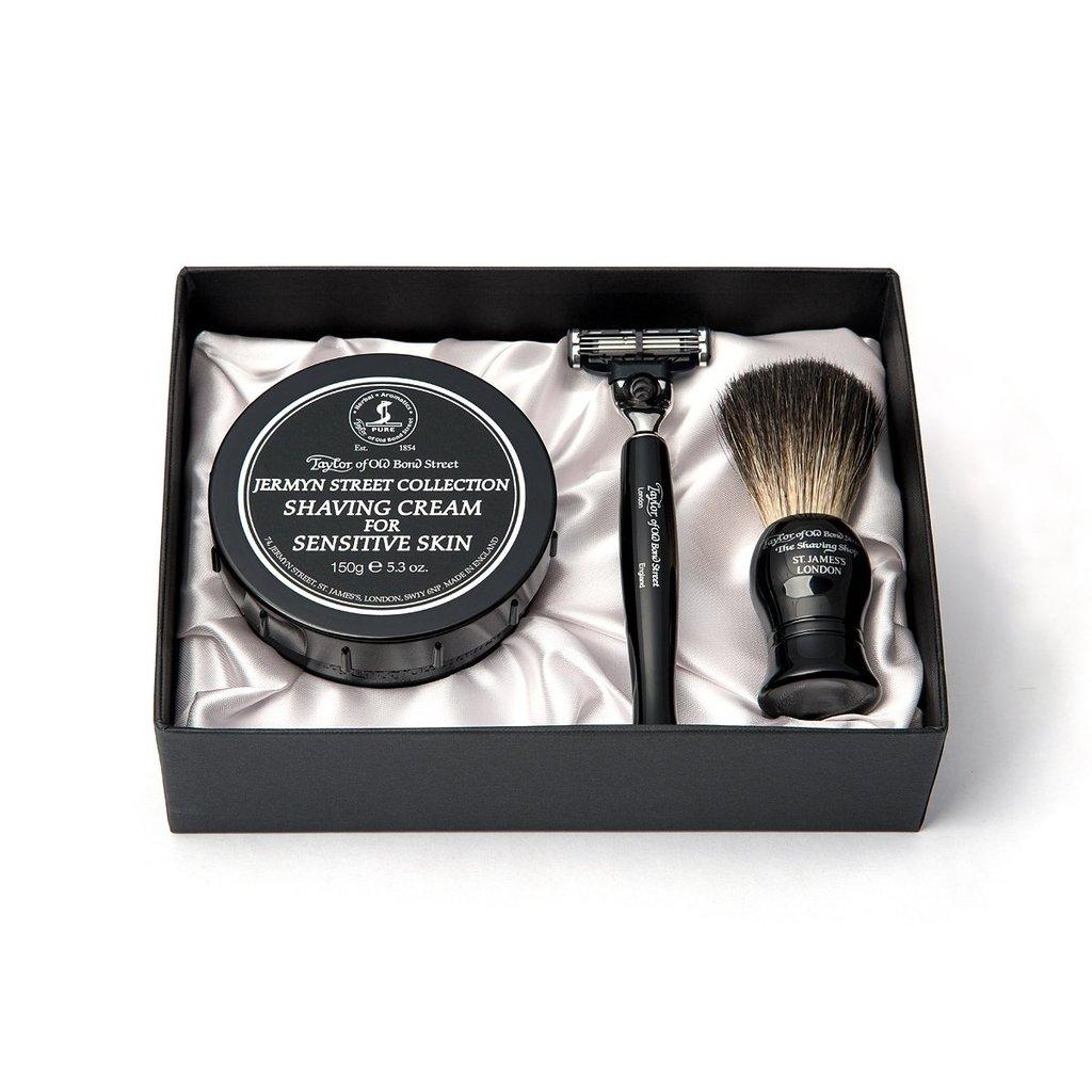 Pure Badger Shaving Brush, Razor Mach3 & Shavingcream