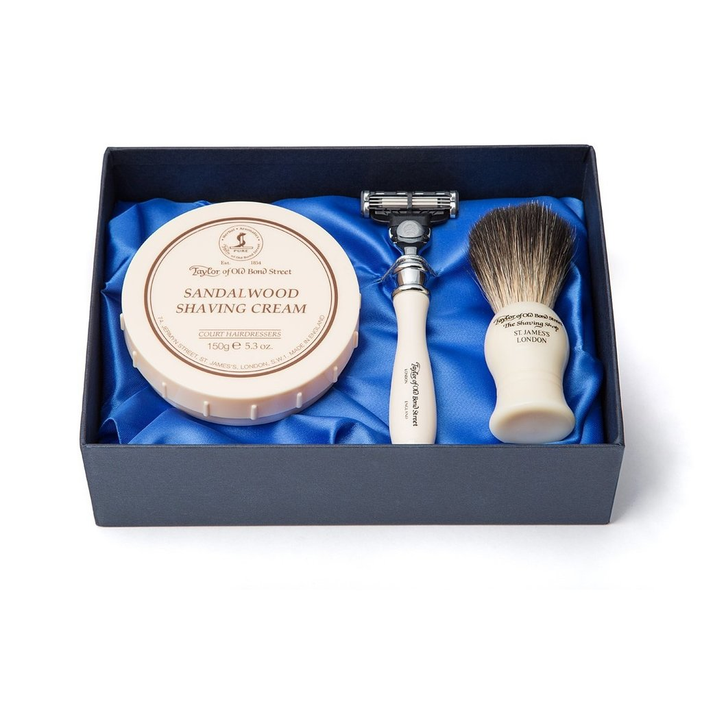 Pure Badger Scheerkwast, Scheermes & Shavingcream