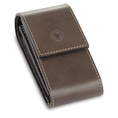 570050 - Brown Leather pouchr for Safety Razor
