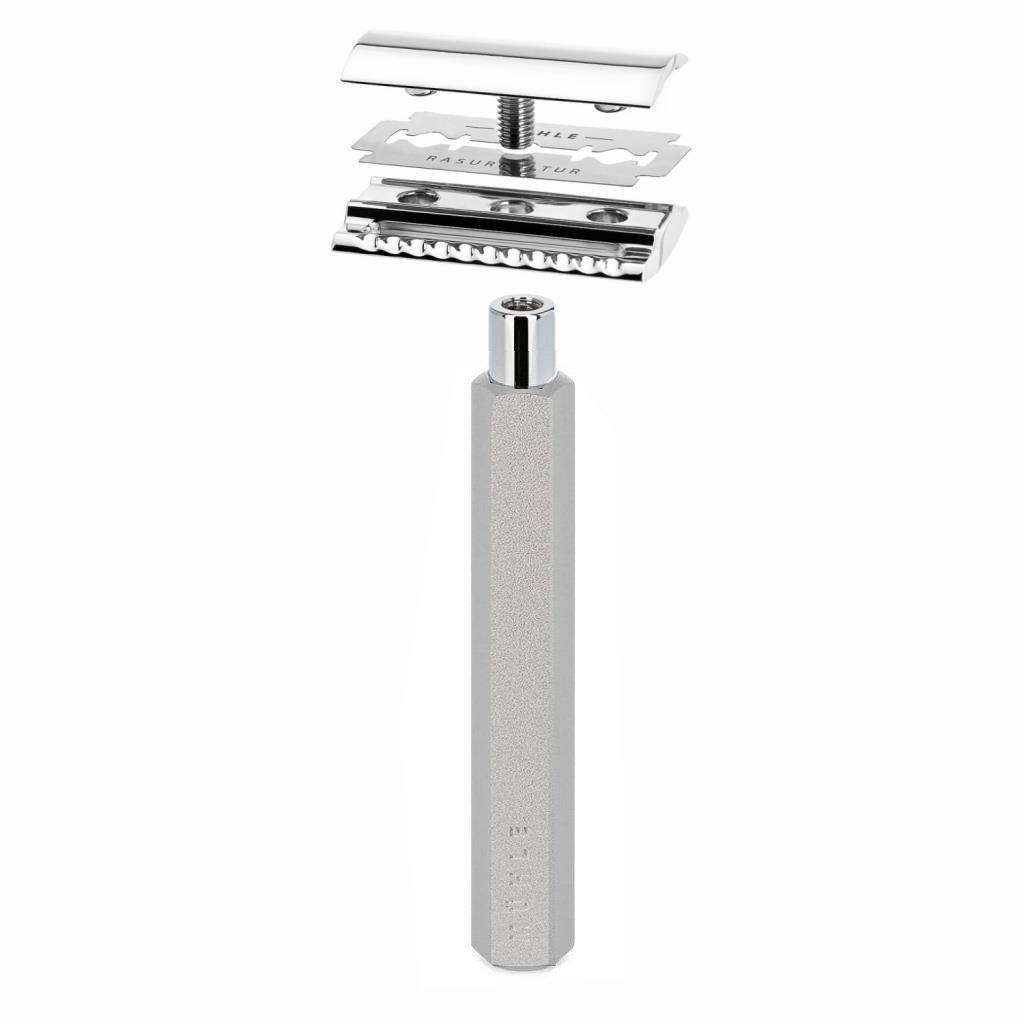 Safety Razor - Silver - Closed Comb
