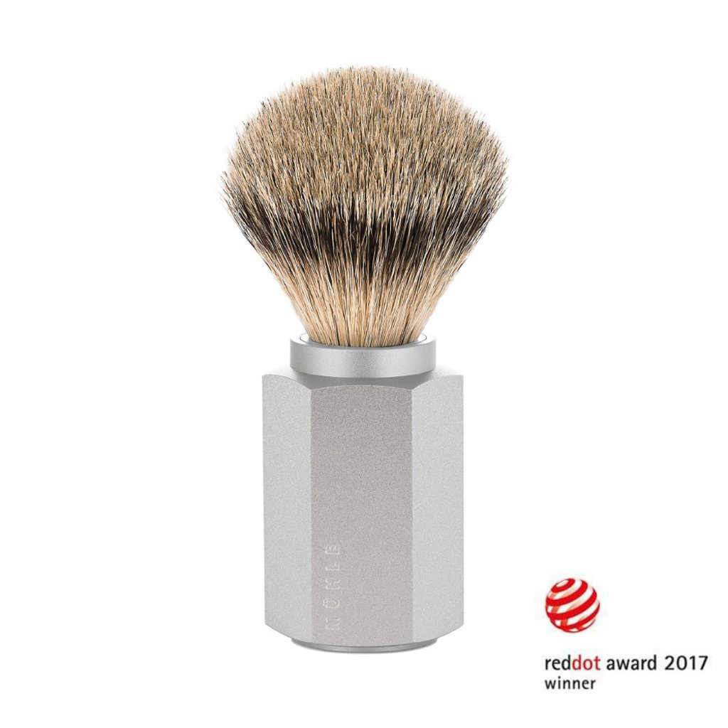 Scheerkwast Silvertip - Zilvergrijs
