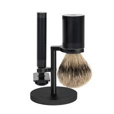 Shaving Set Stainless Steel Silvertip - Rocca Black/ DLC Coating