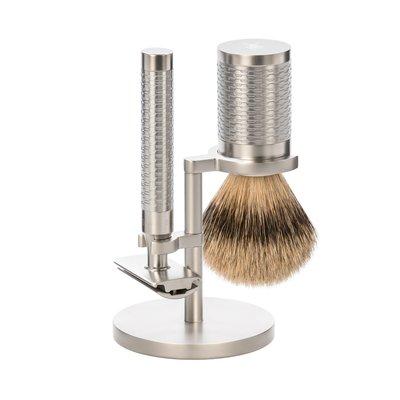 S91M94SR - Shaving Set Stainless Steel Silvertip