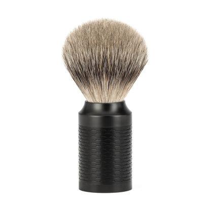 091M96-JET - Shaving Brush Silvertip/ DLC Coating