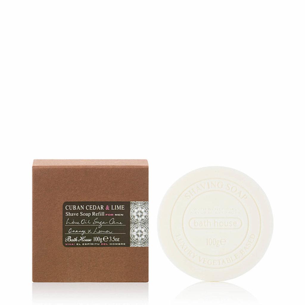 Shaving Soap Refill 100g Cuban Cedar & Lime