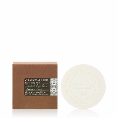 MH10 - Shaving Soap Refill 100g Cuban Cedar & Lime