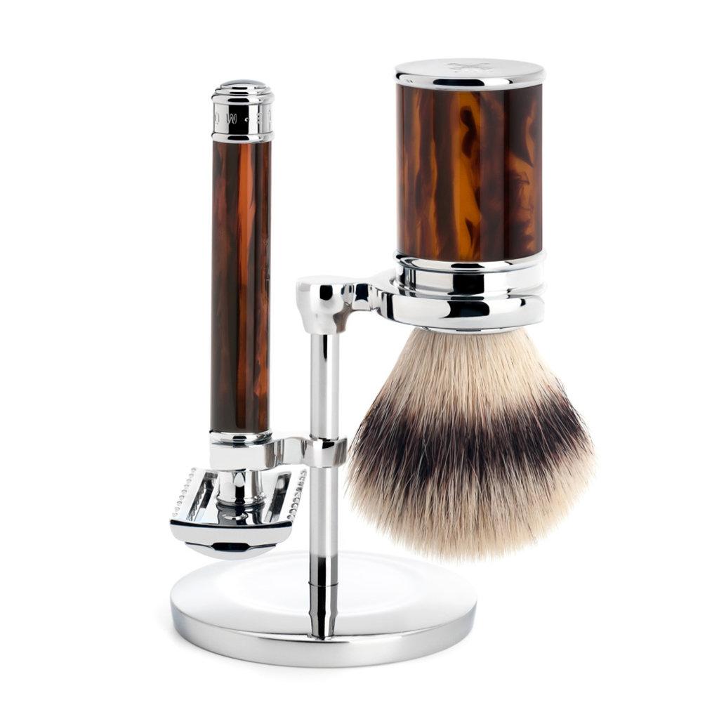 Shaving Set Traditional - Safety razor open comb - Fibre® - Schildpad