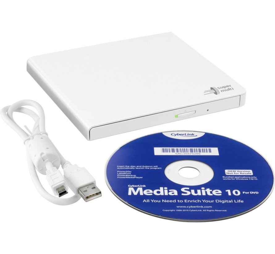 Opti DVD±RW  Writer 24speed USB Extern White Slim (14mm )