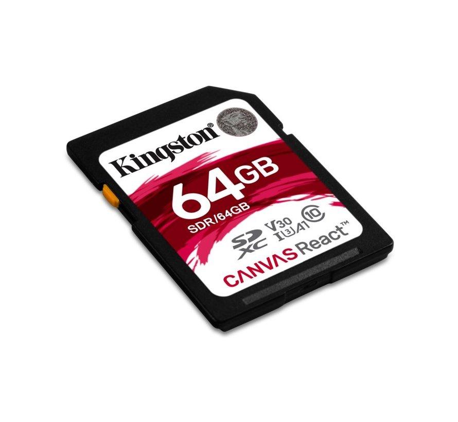 SDCARD  Canvas React SD Class10 64GB