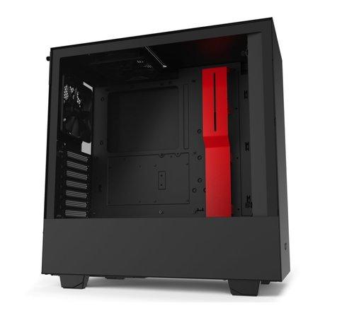 NZXT Case  H510 Zwart Rood / Glass window
