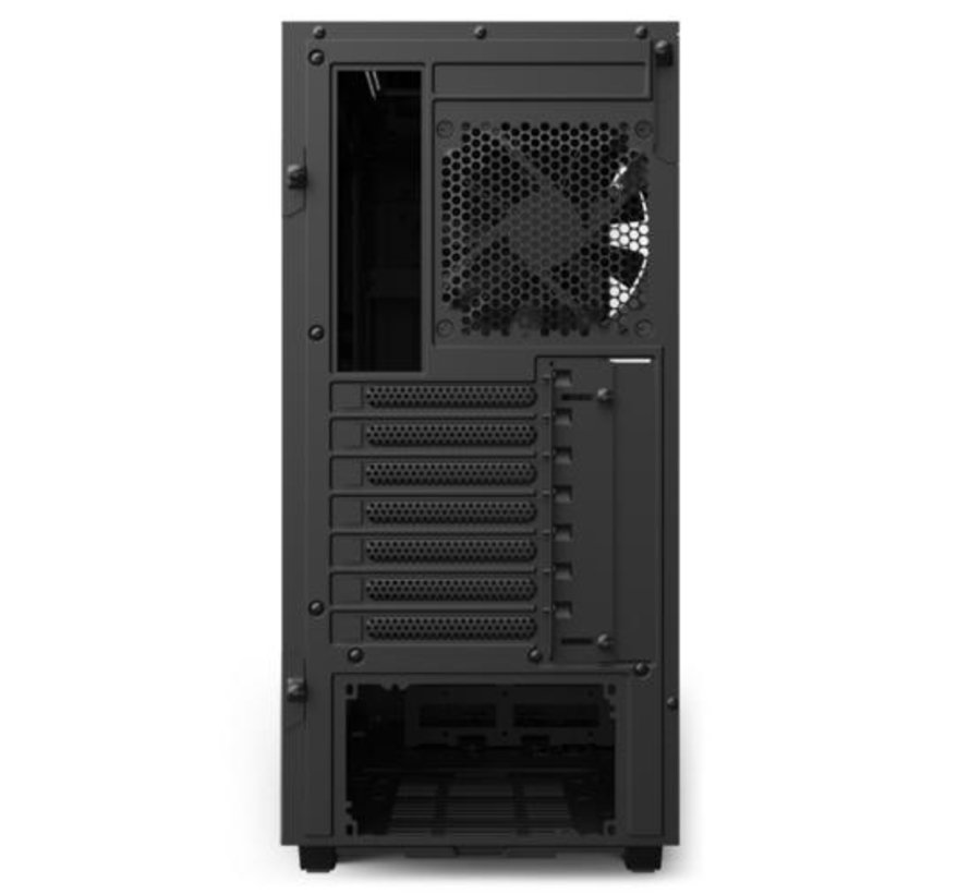 Case  H510 Zwart Rood / Glass window